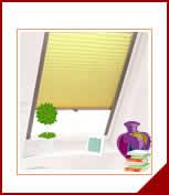 Plissee Maßanfertigung für Dachfenster